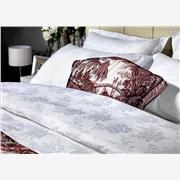 供应雅典纺织纯棉贡缎提花宾馆床上用品