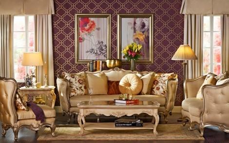 欧式复古风 流行 古典牵手时尚打造豪华美家