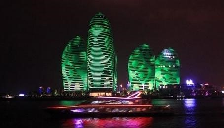 三亚凤凰岛led照明灯光夜景