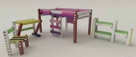 既是玩具也是家具 拼装积木培养创造力