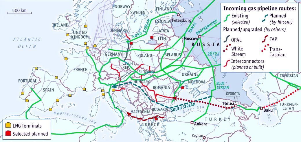 欧盟与俄罗斯多年维系的能源供需关系濒临断裂