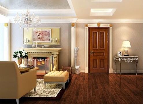 家装木门与地板色彩搭配