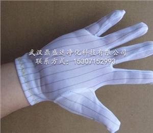供应超合贴的防静电条纹手套含导电丝的优质加厚防静电手套