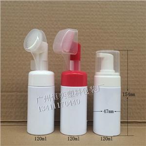 供应新款洁面泡沫瓶120ml塑料瓶PET白色塑料瓶120ml摩丝瓶
