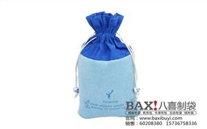 供应上海精美化妆品包装袋定制环保绒布束口礼品袋收纳袋定制