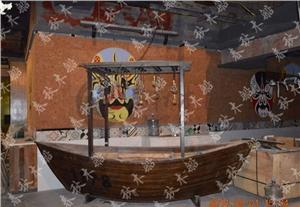 供应观光木船/仿古实木船/装饰画舫/模型手工船/渔船/钓鱼摆件/乌篷船