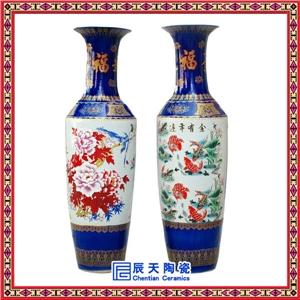 供应手绘花瓶高档家居装饰品大花瓶商务礼品大花瓶