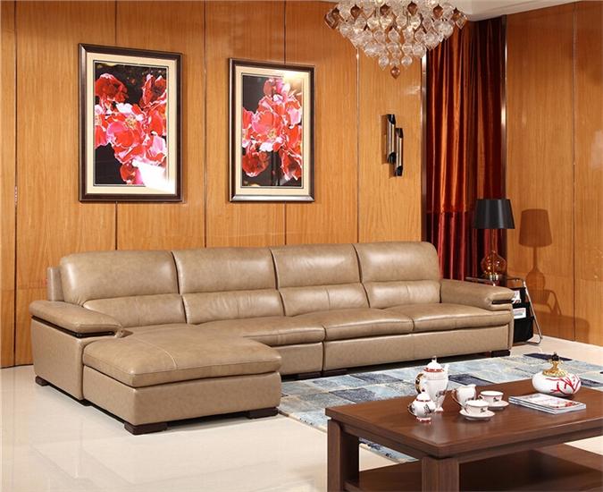 供应a家家居现代简约品牌家具客厅真皮沙发l型组合沙