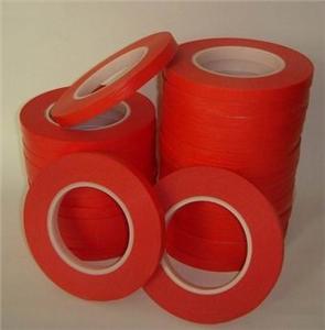 供应PET复合红色高温美纹胶带