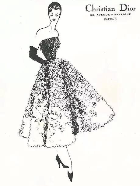 dior服装手绘设计图展示