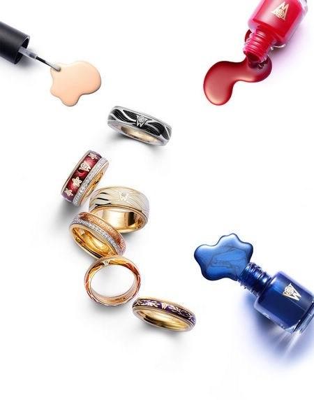 珠宝耳环水彩设计手稿