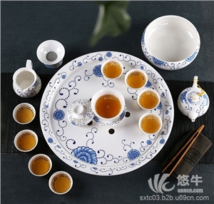 供应答谢客户礼品景德镇高档陶瓷茶具套装