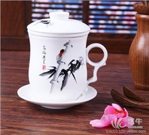 供应纪念礼品陶瓷茶杯四件套