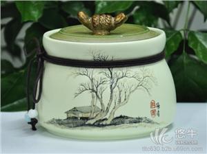 药品罐 产品汇 供应陶瓷一斤茶叶罐子,青花茶叶罐子