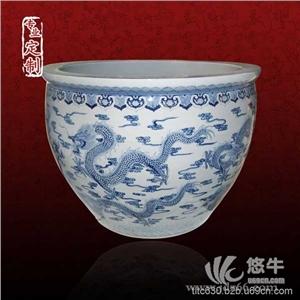 居家陈设陶瓷缸高脚陶瓷缸大厅陶瓷缸定做厂家