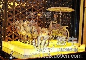 供应西安铜车马秦铜车马闪亮登场展会大厅古代工艺精湛极品