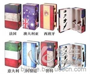 供应国旗系列—双支皮酒盒