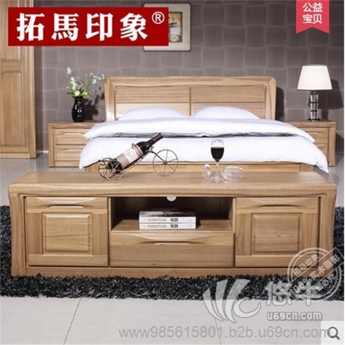 拓马印象全实木电视柜中式榆木储物柜地柜矮柜客厅卧室家具特价