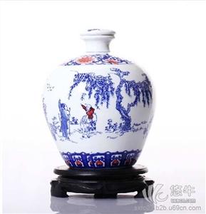 供应景德镇青花瓷酒瓶