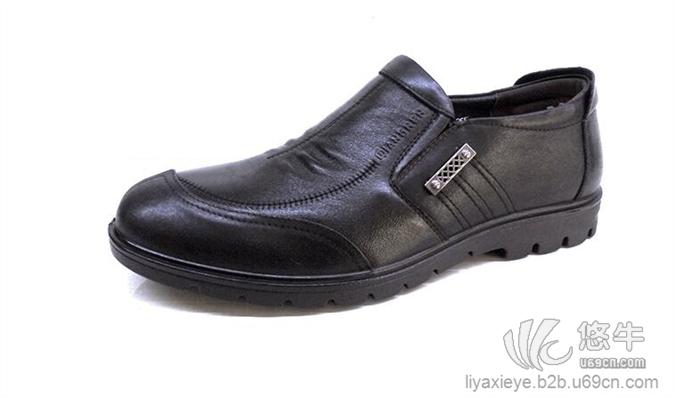 3515强人新款皮鞋车缝头皮革拼接休闲皮鞋