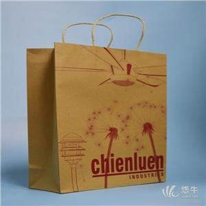 供应厂家定做牛皮纸手提袋时尚服装裤子鞋子包装纸袋礼品包装袋