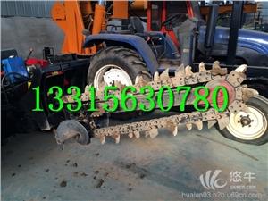 拖拉机链条式开沟机光缆链式开槽机水管挖沟机