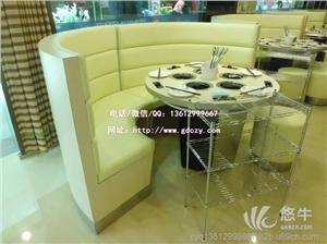 供应深圳艺菲达厂弧形沙发制作配圆形大理石餐桌弧形沙发大理石圆桌