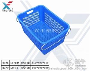 蔬菜筐水果筐 产品汇 供应塑料蔬菜筐6斤带铁把手周转箩筐