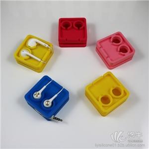 环包硅胶材质手机耳机双孔积木绕线器携带方便可印logo修改本产品支持七天无理由退货