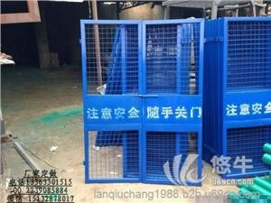供应施工电梯防护门/升降机安全门/人货电梯防护门定制