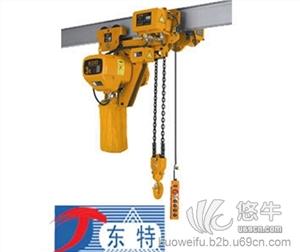 供应低净空环链电动葫芦-河北东特厂家安装环链电动葫芦