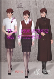 供应航空工作服夏装,夏季空姐服套装,南航空姐服定做,空姐衬衫+裙子套装,上海亿妃服装厂