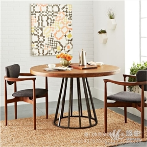 供应圆形饭台酒店高档实木圆桌纯实木餐厅家具饭桌圆餐桌椅组合
