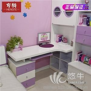 儿童套装 产品汇 供应亨特儿童实木书柜一体桌套装储物必备