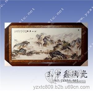 供应瓷版画礼品陶瓷瓷板画定做