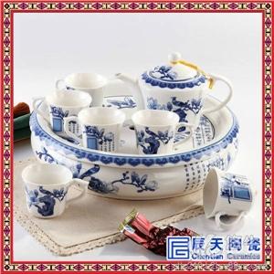 供应手绘青花瓷茶具粉彩功夫茶具颜色釉陶瓷茶具