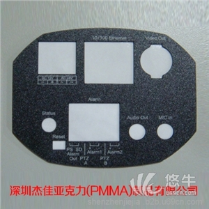 供应亚克力PC镜片厂PMMA透明塑料片切割印刷
