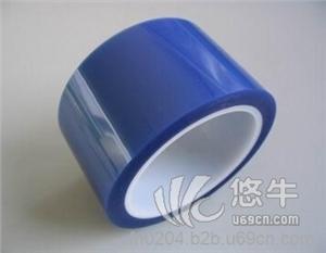 供应蓝色硅胶耐高温胶带高温PET蓝色胶带