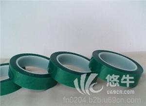供应绿色PET高温硅胶带PET绿色烤漆胶带