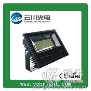 供应云川新款贴片200WLED投光灯05款黑色外壳户外防水亮化灯具