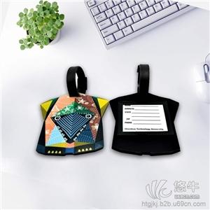 工厂OEM定做pvc软胶行李牌定制硅胶旅行箱包吊挂牌可定制图案及logo
