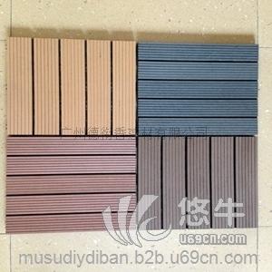 供应阳台庭院别墅木塑拼花地板简易铺地板新型环保耐用快易铺地板