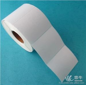 供应60*50mm*1000张铜版纸不干胶条码纸标签纸