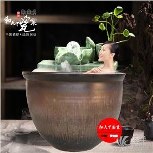 供应日式泡澡缸上海极乐汤陶瓷洗浴大缸高档酒店澡堂