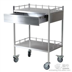 兆庭实验室工具推车不锈钢带抽屉推车实验室防酸碱推车