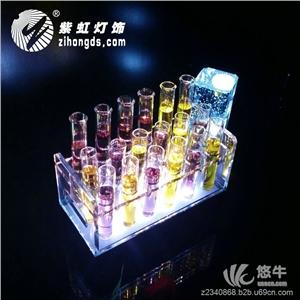 供应LED充电试管酒架鸡尾酒试管杯架七彩