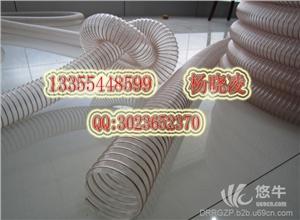供应pu耐磨钢丝吸尘管透明钢丝吸尘管