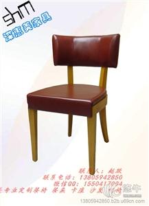 主题餐厅餐桌椅 咖啡店西餐厅餐桌椅 实木椅子皮餐椅 定制