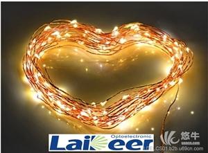 供应LED铜线灯串、电池盒灯串、树藤灯串、LED银线灯串