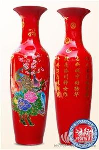供应中国红结婚礼品大花瓶